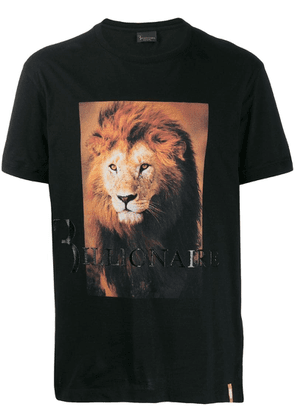 Billionaire lion print T-shirt - Black