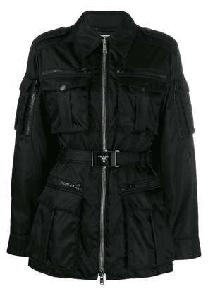 Prada belted utility jacket - Black