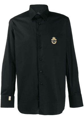Billionaire logo embroidered shirt - Black