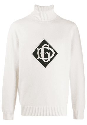 Dolce & Gabbana DG logo patch jumper - White