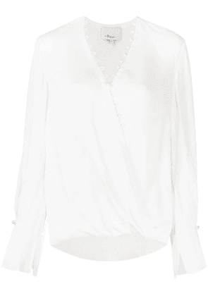 3.1 Phillip Lim pearl-embellished blouse - White