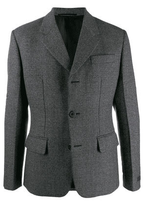 Prada notched lapel blazer jacket - Grey