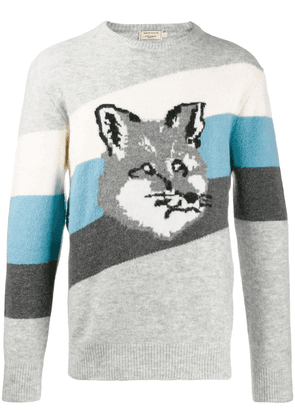 Maison Kitsuné fox pattern jumper - Grey