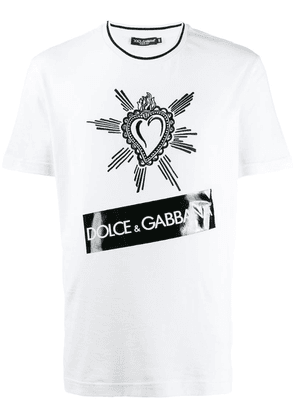 Dolce & Gabbana embroidered heart T-shirt - White
