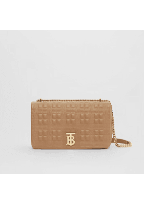 Burberry Medium Quilted Check Lambskin Lola Bag, Brown