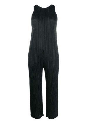 Pleats Please By Issey Miyake sleeveless cropped jumpsuit - Black