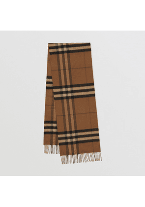 Burberry The Classic Check Cashmere Scarf, Brown