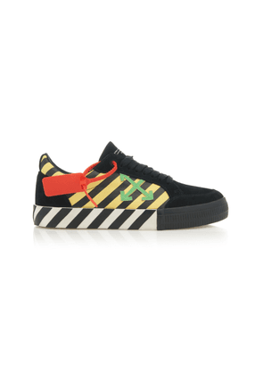 Off-White c/o Virgil Abloh Suede and Canvas Low-Top Sneakers