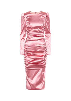 Stretch-satin midi dress