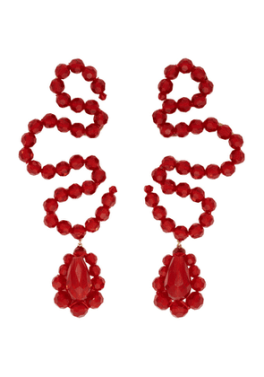 Simone Rocha Red Wiggle Earrings