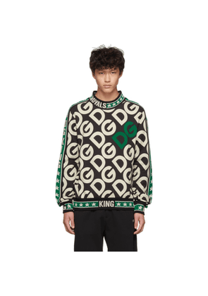 Dolce and Gabbana Black and Off-White Royals Sweatshirt