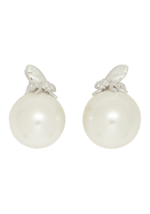 Shushu/Tong White YVMIN Edition Insect Pearl Earrings