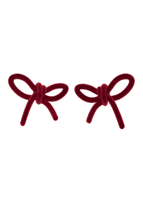 Shushu/Tong Red Velvet Bow Earrings