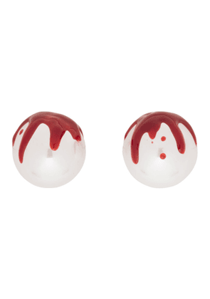 Shushu/Tong White YVMIN Edition Pearl Blood Earrings
