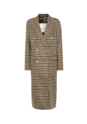 The Cindy check wool coat