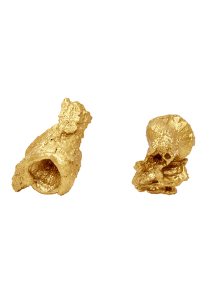 Ingy Stockholm Gold Object No. 78 Asymmetric Earrings