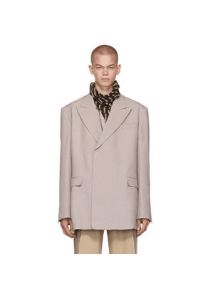 Raf Simons Purple Fitted Double Breasted Blazer