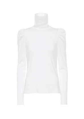 Cedar stretch-cotton turtleneck top