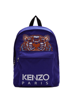Kenzo Blue Canvas Tiger Backpack