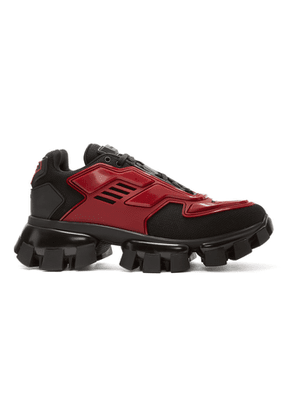 Prada Black and Red Cloudbust Thunder Sneakers