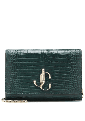 Varenne croc-effect leather clutch