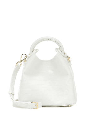 Madeleine croc-effect shoulder bag