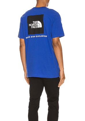 The North Face Red Box Tee in TNF Blue - Blue. Size L (also in S,M,XL).