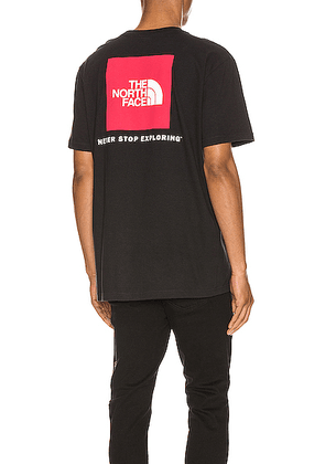 The North Face Red Box Tee in TNF Black - Black. Size L (also in S,M,XL).