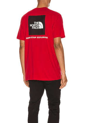 The North Face Red Box Tee in TNF Red - Red. Size L (also in S,M,XL).
