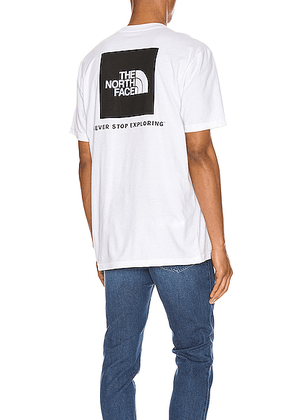 The North Face Red Box Tee in TNF White - White. Size L (also in S,M,XL).