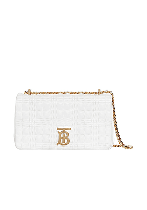 Burberry Small Soft Leather Crossbody Bag in White - White. Size all.