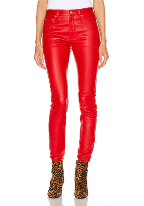 Saint Laurent Skinny Pant in Red - Red. Size 34 (also in 36,38,40).