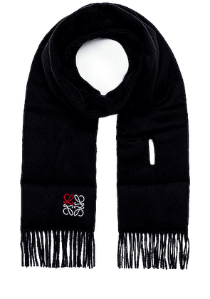 Loewe Padded Anagram Scarf in Navy Blue - Blue. Size all.