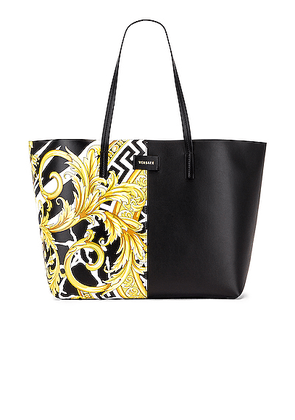 VERSACE Tribute Tote in Black & Gold - Black. Size all.