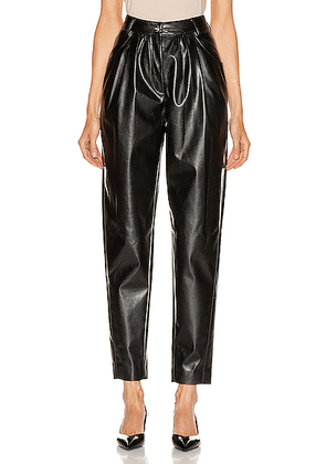 MSGM Patent Pant in Black - Black. Size 40 (also in 42).