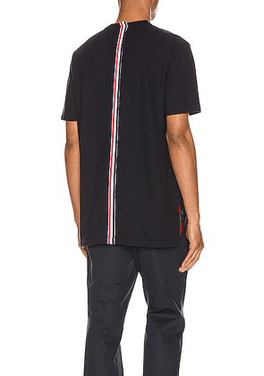 Thom Browne Relaxed Stripe Tee in Navy - Blue. Size 0 (also in 1,2,3,4,5).