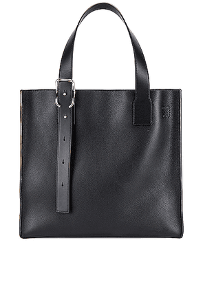 Loewe Buckle Tote Bag in Black - Black. Size all.