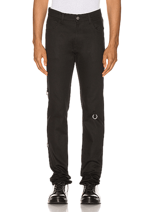 Raf Simons 4 Rings Denim Pants in Black - Black. Size 32 (also in 30,33,34).