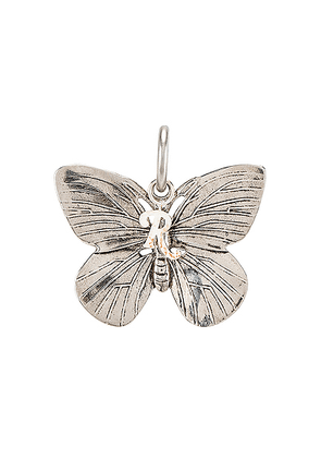 Raf Simons Butterfly Charm in Silver - Metallic. Size all.