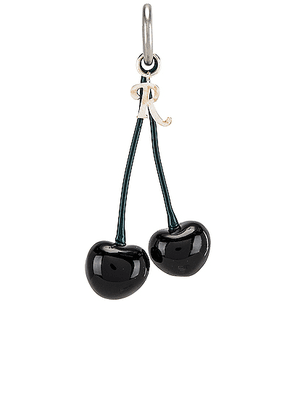 Raf Simons Double Cherry Charm in Black - Black. Size all.