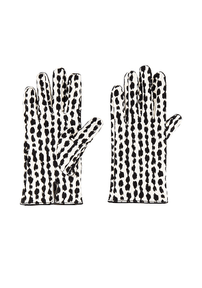 Raf Simons Animal Fabric Gloves in White & Black - Abstract,White. Size 10 (also in 8,9).