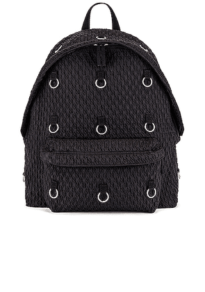 Raf Simons Padded Loop Backpack in Black - Black. Size all.