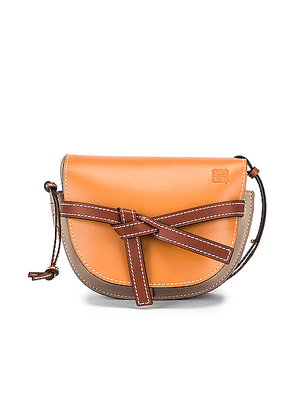 Loewe Gate Small Bag in Amber Light & Grey Rust - Brown. Size all.