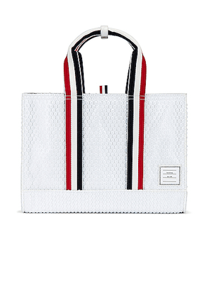 Thom Browne Tote Bag in White - White. Size all.