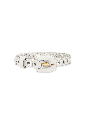 JACQUEMUS Braided Belt in White - White. Size all.