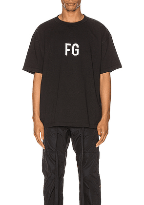 Fear of God Short Sleeve FG Tee in Vintage Black - Black. Size M (also in S).