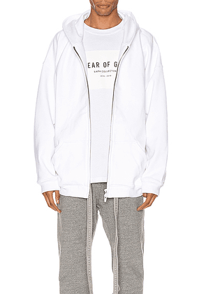 Fear of God Everyday Full Zip Hoodie in White - White. Size M (also in S).