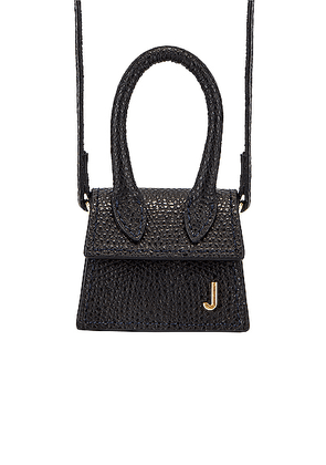 JACQUEMUS Petit Chiquito Bag in Black - Black. Size all.