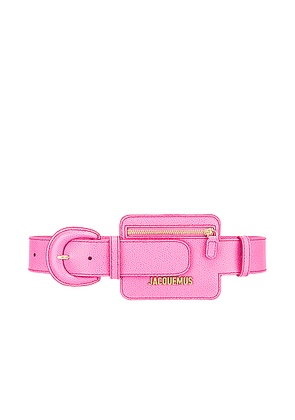 JACQUEMUS Wallet Belt in Pink - Pink. Size M (also in S).