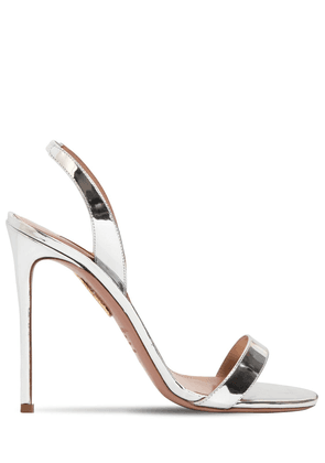 105mm So Nude Mirrored Leather Sandals